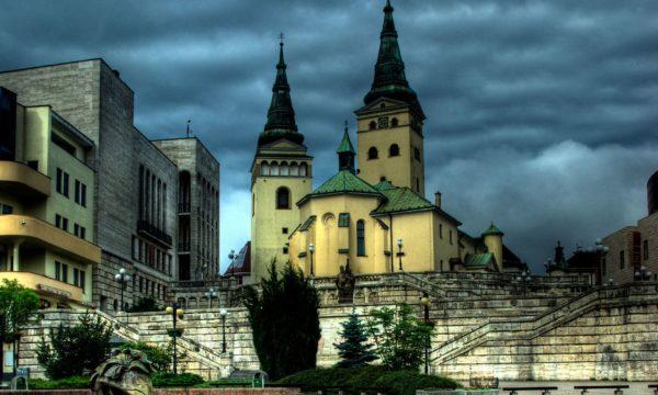 31682798 - hlinka square , church of holy trinity  in background